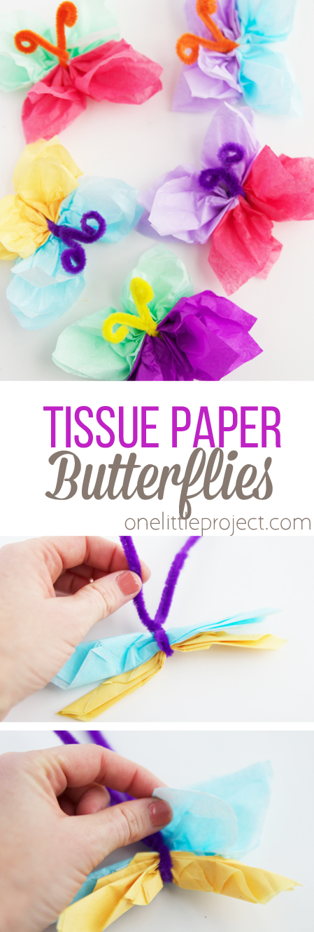 These adorable butterflies only require a couple of materials and would be the perfect spring decor for almost any occasion!
