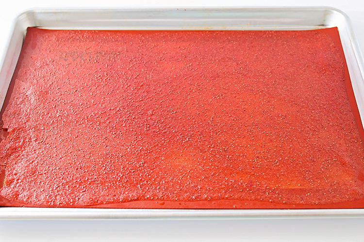 This deliciously sweet strawberry apricot fruit leather is so easy to make at home, and is the perfect way to use some of that fresh summer fruit!