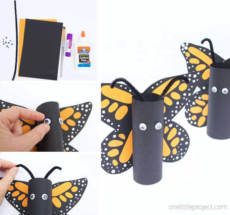 These paper roll Monarch butterflies are so fun for kids to make! They turn out so cute every time!