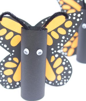 Paper Roll Monarch Butterflies