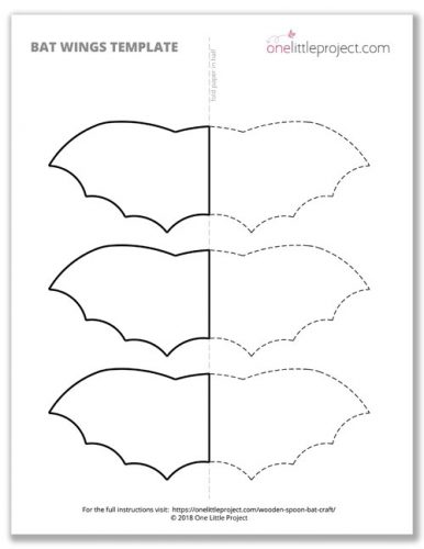Bat Wings Printable Template