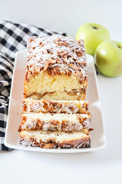 This beautiful and sweet apple cinnamon pound cake is the perfect treat for fall! It's easy to make, and has the most delicious combination of flavors!