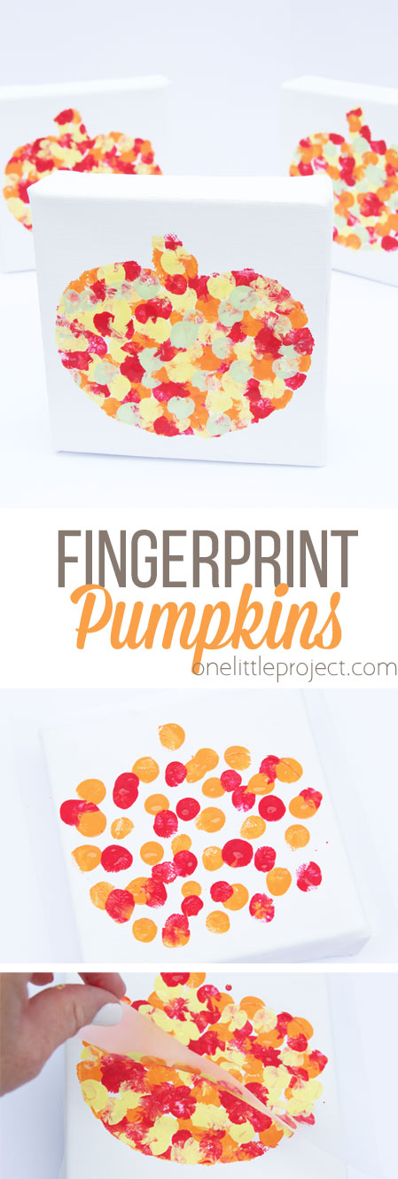 These fingerprint pumpkins are perfect for all ages and will make a great addition to your fall decor this year!