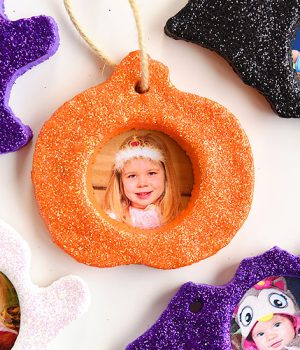 Adorable Halloween Salt Dough Photo Keepsake