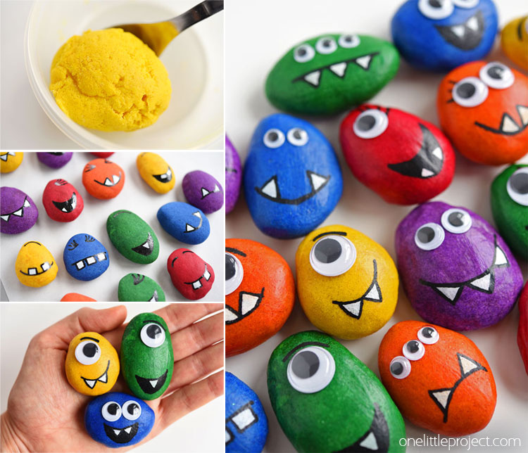 These salt dough monster pets are SO CUTE and really simple to make! You don't even need to paint them! This is such a fun craft to make with the kids and a great alternative to painted rock monsters!
