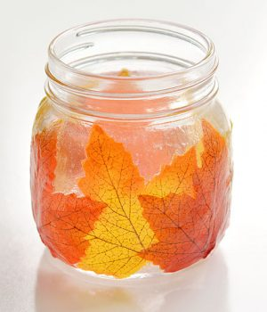 How to Make Beautiful Mason Jar Leaf Lanterns