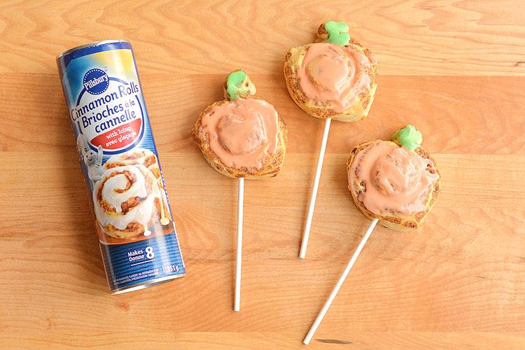 Cinnamon Roll Pumpkin Pops