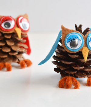 How to Make Cute Pinecone Owls