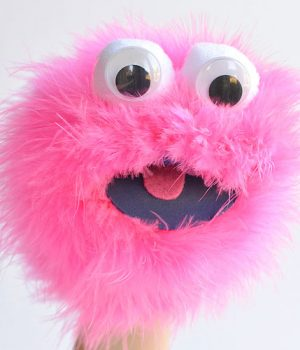 Easy Feather Boa Sock Puppet