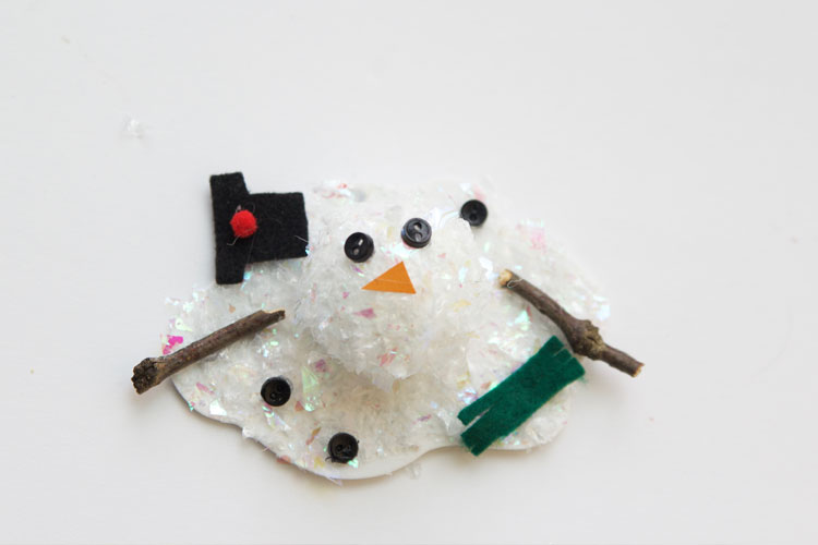 Melted Snowman Ornaments One Little Project