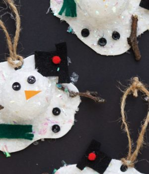 Melted Snowman Ornaments