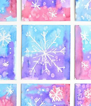 Magic Salt and Watercolor Snowflake Art
