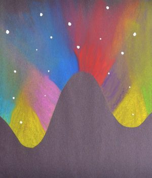 Beautiful Northern Lights Chalk Art For Kids