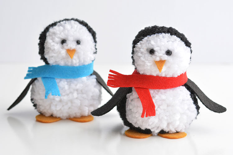 9a5174ff7e9 How to Make Pom Pom Penguins