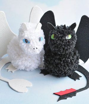 Pom Pom Dragons Inspired by How to Train Your Dragon