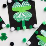 Paper Strip Clovers