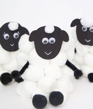 Paper Roll Sheep