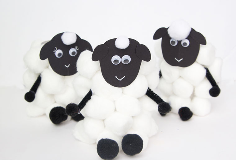 These paper roll sheep are so easy for kids of all ages to make. It's the perfect spring craft for kids!