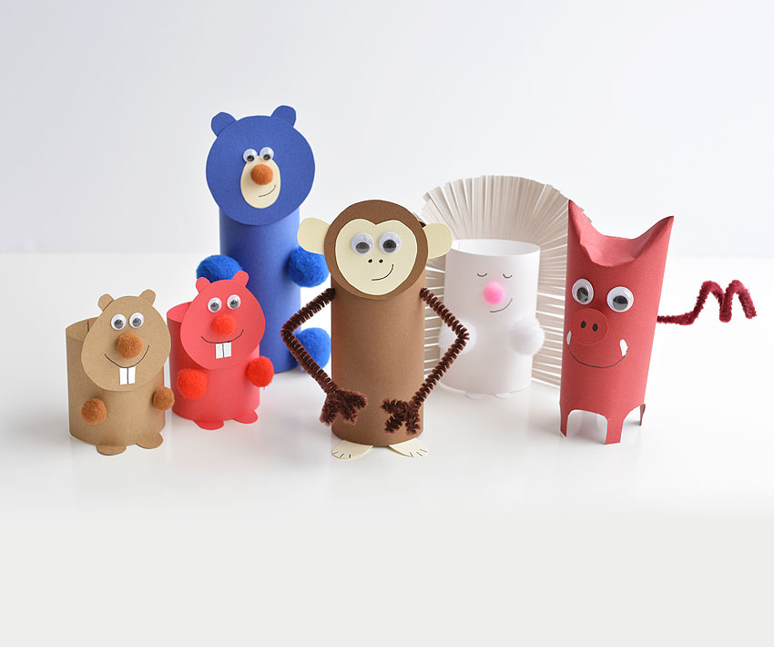 These paper roll animals are SO CUTE, and they're really easy to make using simple craft supplies! If you use toilet paper rolls, it's a great way to upcycle! Or you can make your own paper rolls using card stock. Either way, this is a super fun kids craft that they can actually play with!