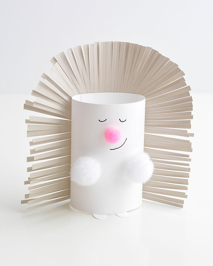 Paper Roll Porcupine or Hedgehog - These paper roll animals are SO CUTE, and they're really easy to make using simple craft supplies! If you use toilet paper rolls, it's a great way to upcycle! Or you can make your own paper rolls using card stock. Either way, this is a super fun kids craft that they can actually play with!