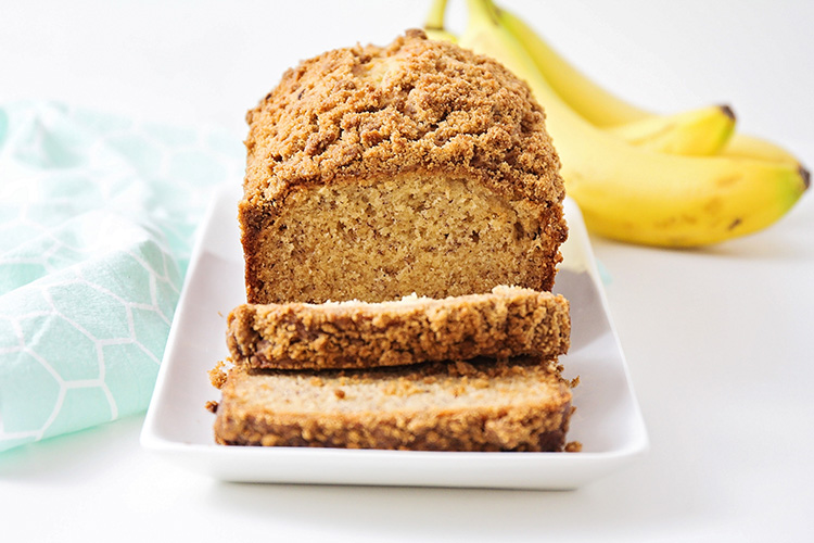 This delicious and flavorful cinnamon streusel banana bread has a light and tender texture, the perfect banana flavor, and a sweet cinnamon crunch!