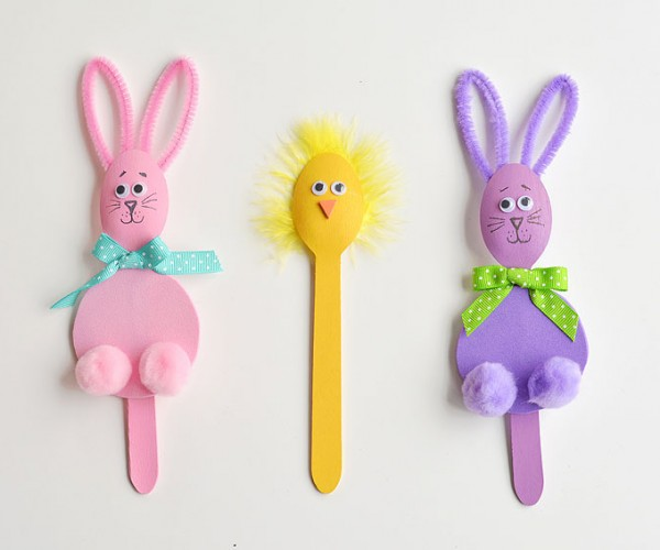 Wooden Spoon Bunnies and Chicks