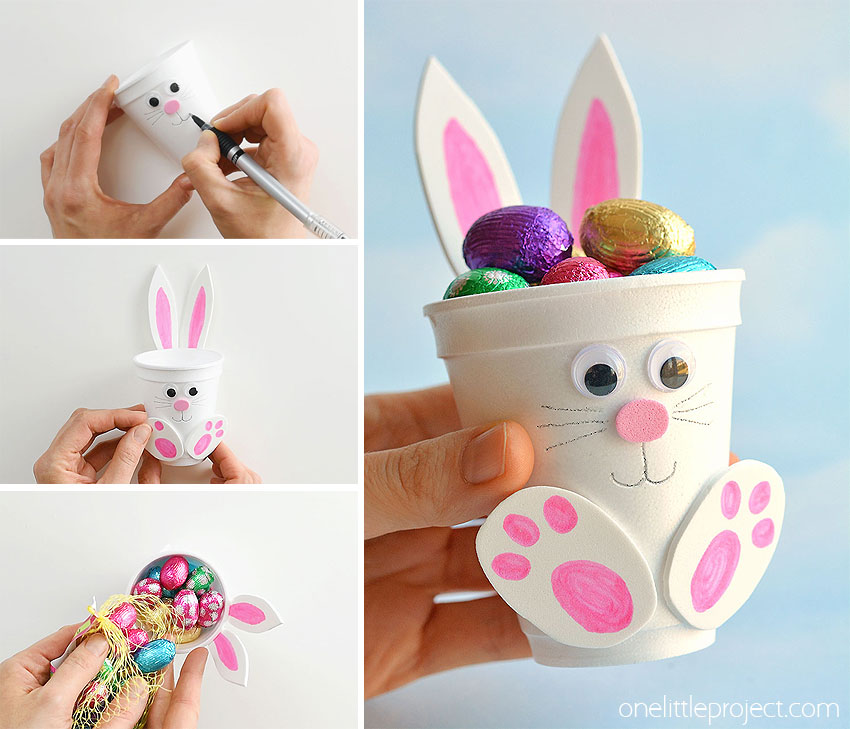 How to Make Foam Cup Bunnies | DIY Foam Cup Easter Bunnies