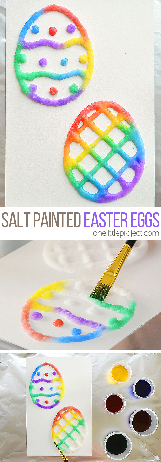 Salt Painted Easter Eggs