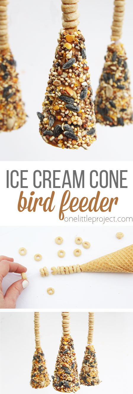 These ice cream cone bird feeders are so easy to make and a great kids craft for spring. These would also be great to give as Mother's Day or teacher appreciation gifts!
