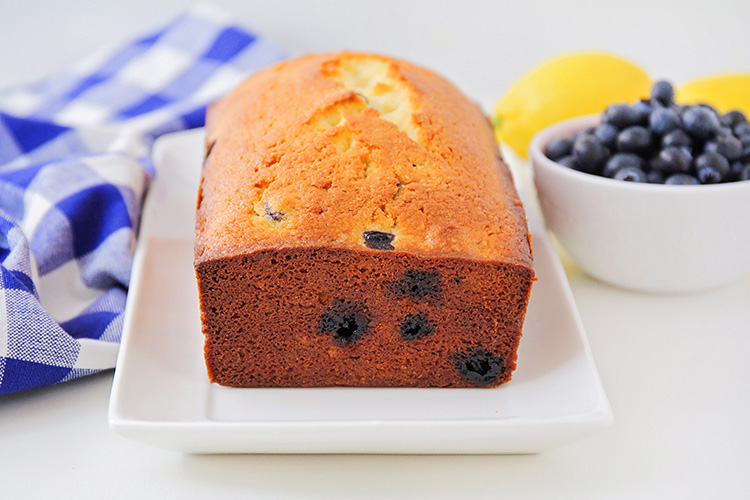This sweet and tender lemon blueberry bread is so flavorful and delicious! It's easy to make, and perfect for breakfast or dessert!