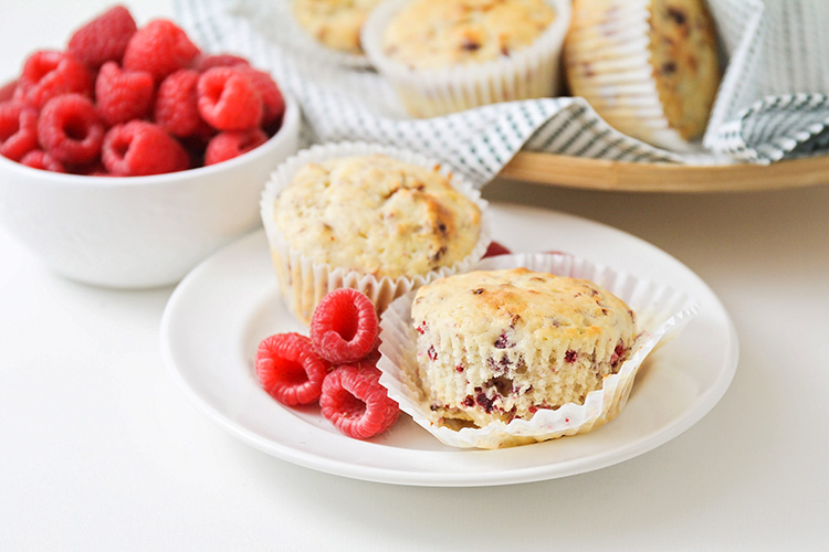 These tart and sweet raspberry lemon muffins are so delicious and flavorful! They're perfect for breakfast or snacking, and take just 30 minutes to make!