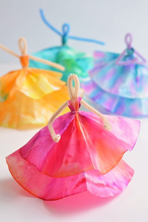 40+ Awesome Pipe Cleaner Crafts - Coffee Filter Dancers