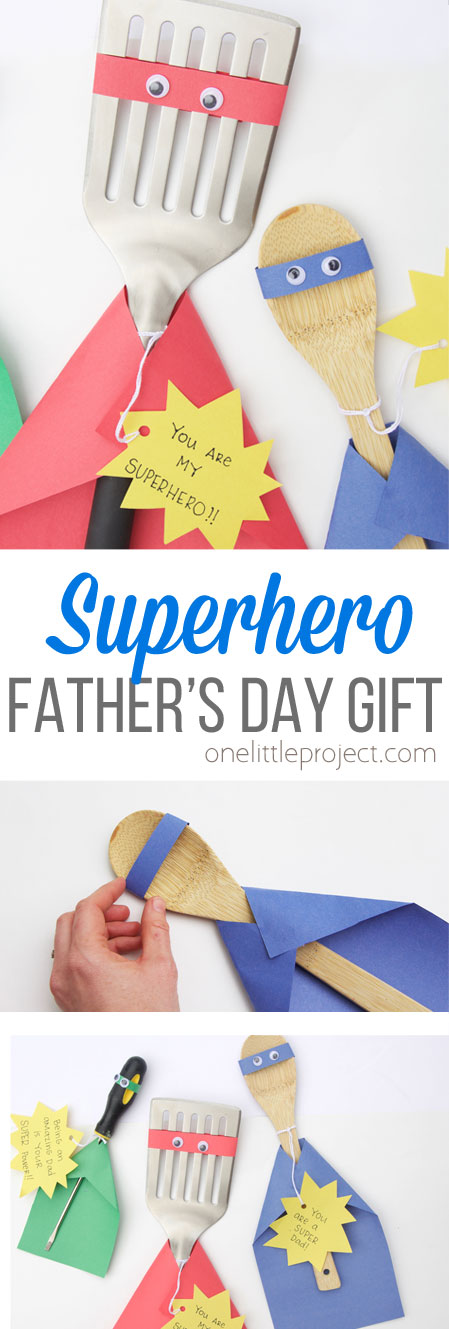 This Father's Day craft for kids is a great way to give dad a gift that he will love while sending him the message that he is a superhero in your life!