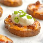 Easy Baked Potato Skins | Loaded Baked Potato Bites