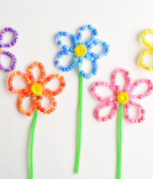 Beaded Pipe Cleaner Flowers