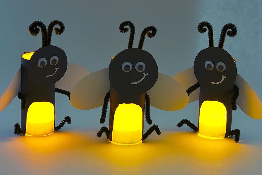 Paper Roll Firefly | How to Make Paper Roll Fireflies