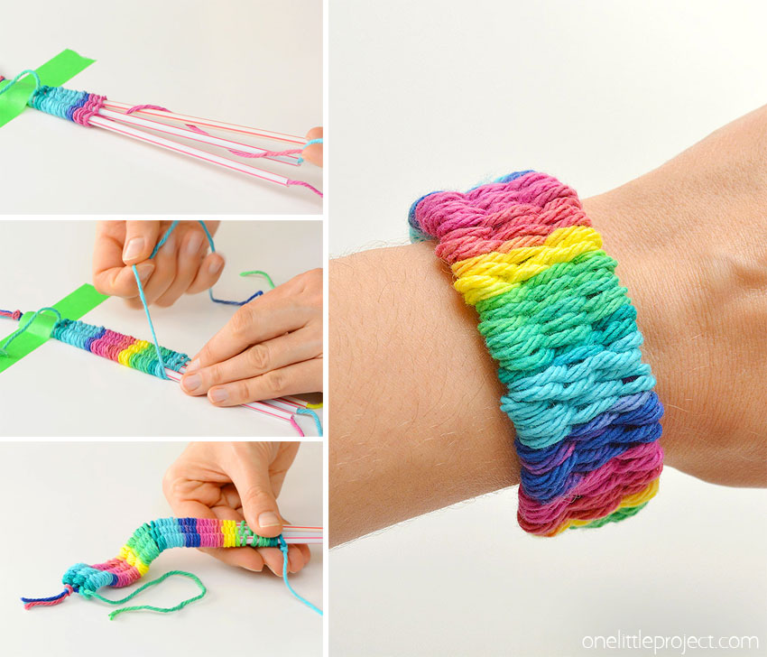 Straw weaving is such a fun craft idea! It's a great summer craft for camps and an awesome craft for kids or tweens. You can weave bracelets, necklaces, headbands and even belts. Wouldn't they make awesome friendship bracelets!? This method of weaving is easy to learn and it's lots of fun!