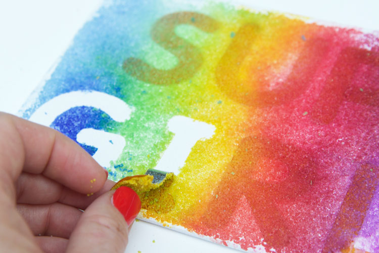 These rainbow salt paintings are SO beautiful and would be a great activity for a kids' birthday party or a school class party!