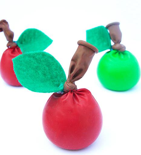 Apple shaped stress ball