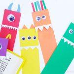 DIY Paper Monster Bookmarks