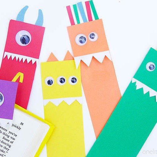 Paper Monster Bookmarks