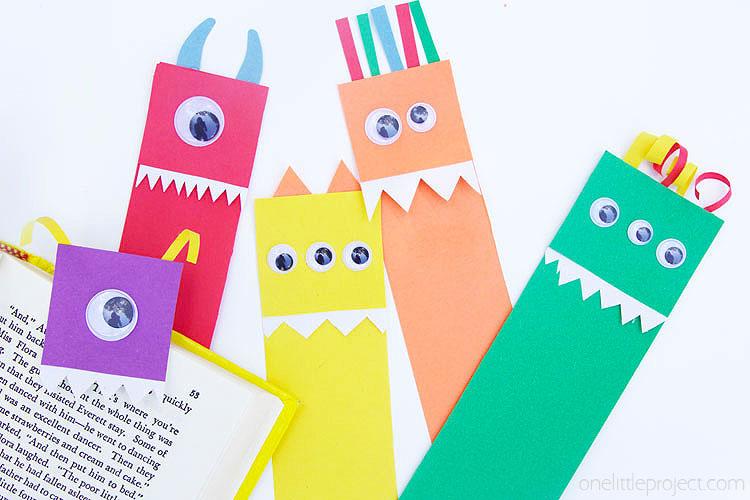 diy monster bookmarks