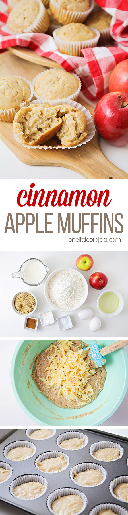 These delicious and tender cinnamon apple muffins are so easy to make, and bursting with fall flavors. They're the perfect way to start the day!