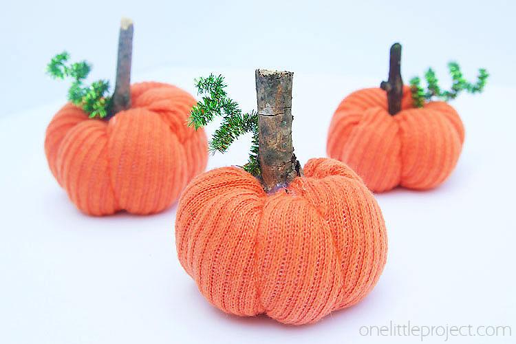 DIY Sock Pumpkins