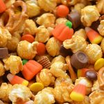 Scarecrow Crunch Snack Mix Recipe | Halloween Caramel Corn