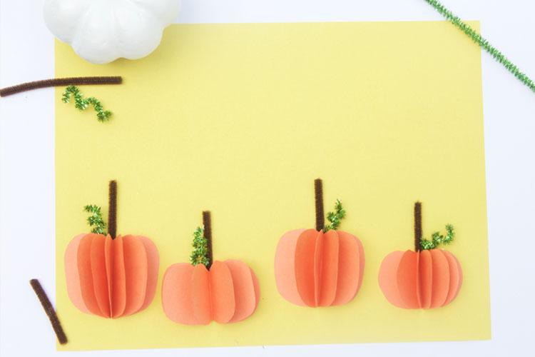 3d Paper Pumpkins One Little Project