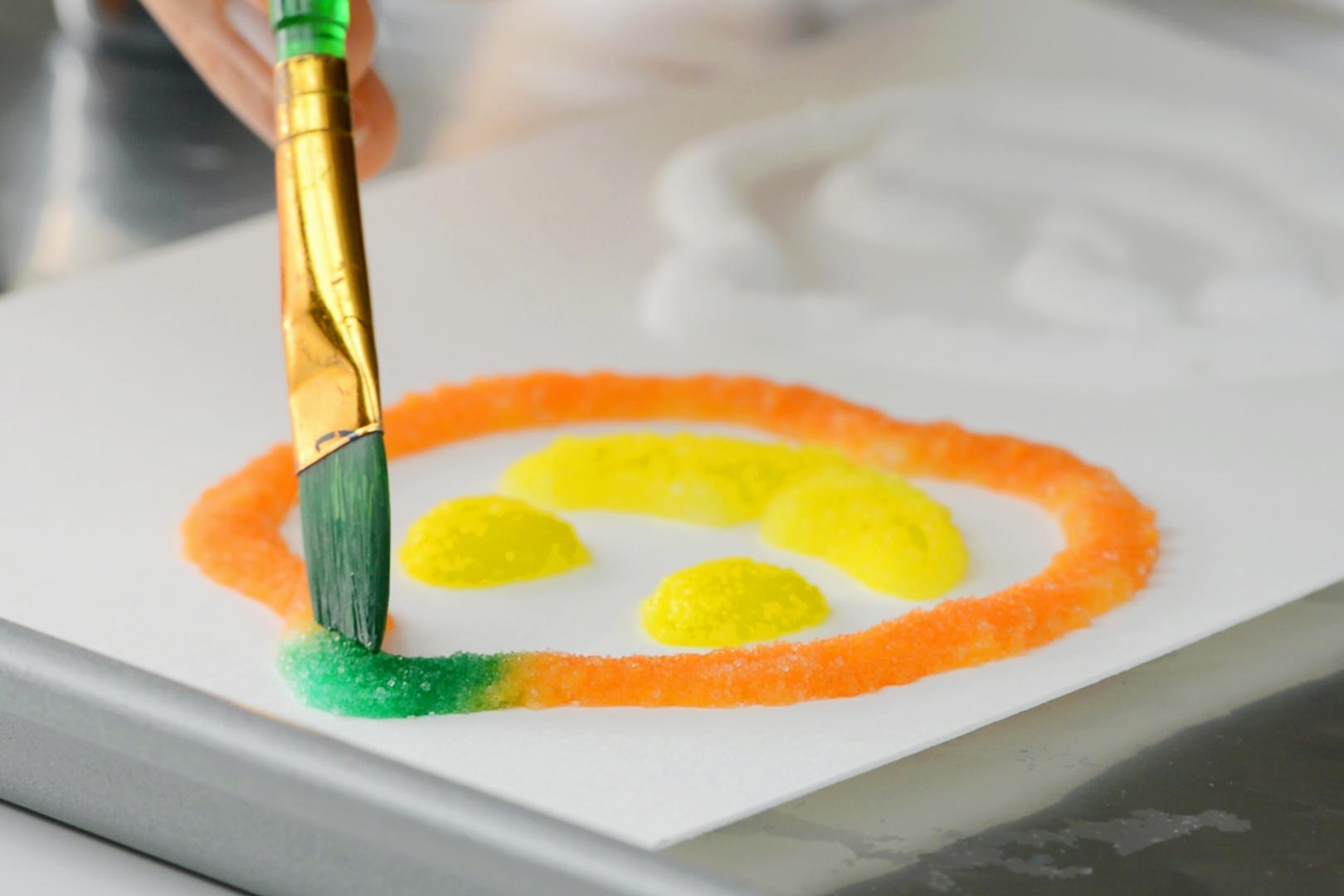 Salt Painted Halloween Craft | Easy Salt Painted Pumpkins And Spiderweb - Crafts
