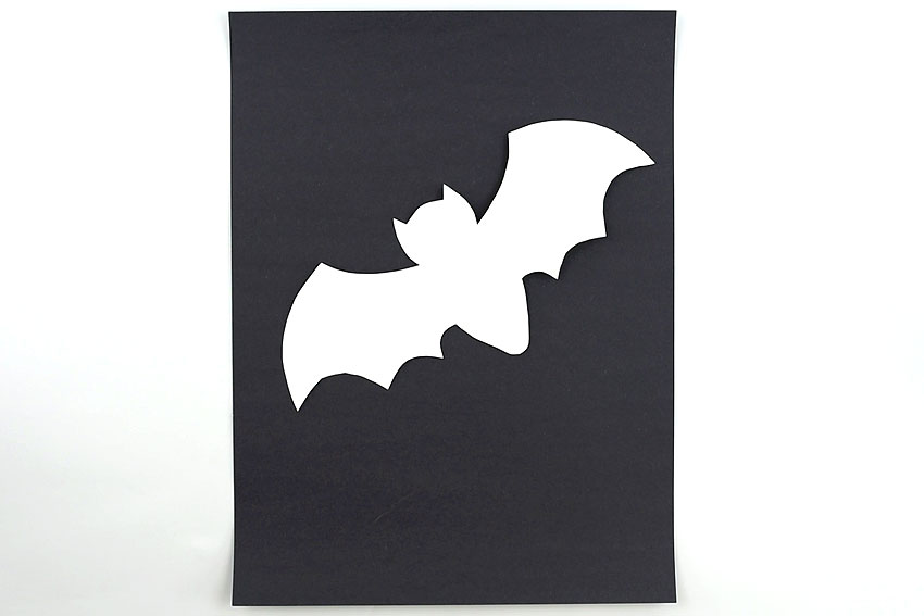 Splatter Paint Bat Art
