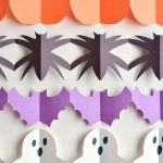 Halloween Paper Garland Cutouts – Bats, Spiders, Pumpkins, Ghosts and Black Cats!