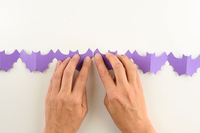 Halloween Paper Garland Cutouts - Bats, Spiders, Pumpkins, Ghosts and Black Cats!